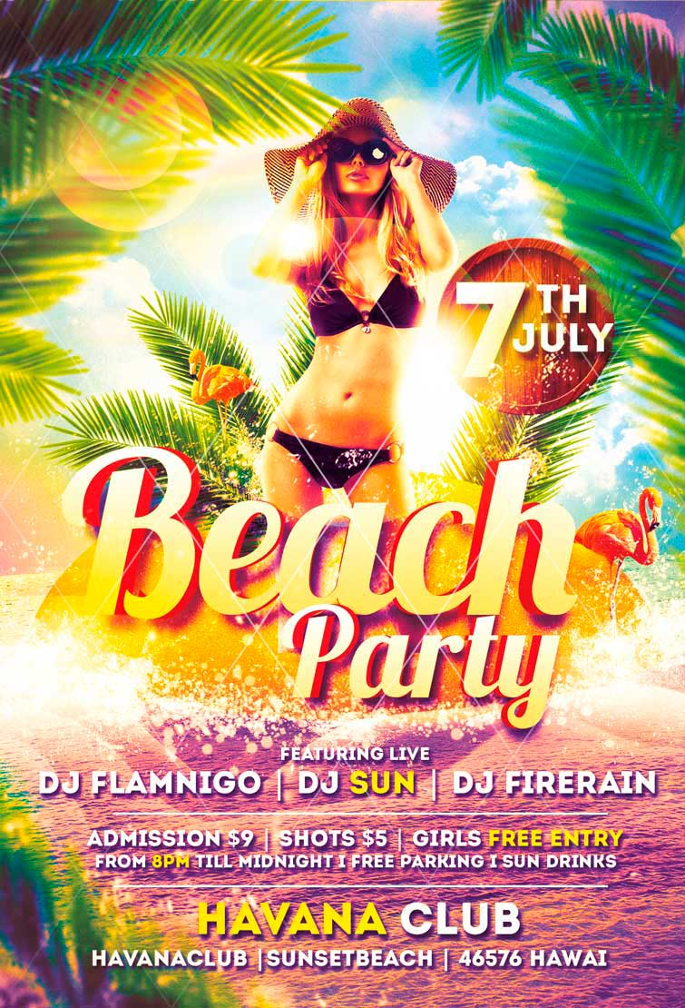 pool party flyer psd images flyer psd template