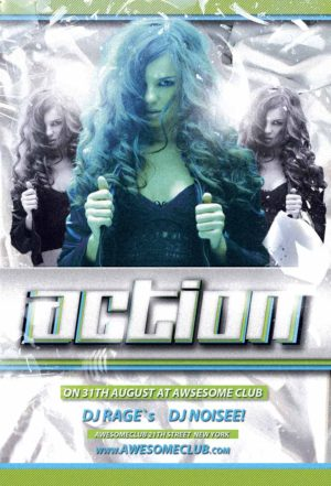 Free Action Club Flyer Template