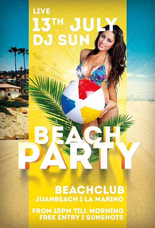 free-beach-party-flyer-template-awesomeflyer-preview