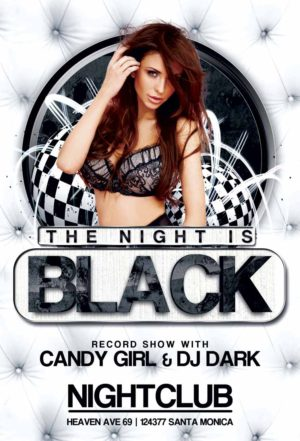 Free Black NIght Club Flyer Template