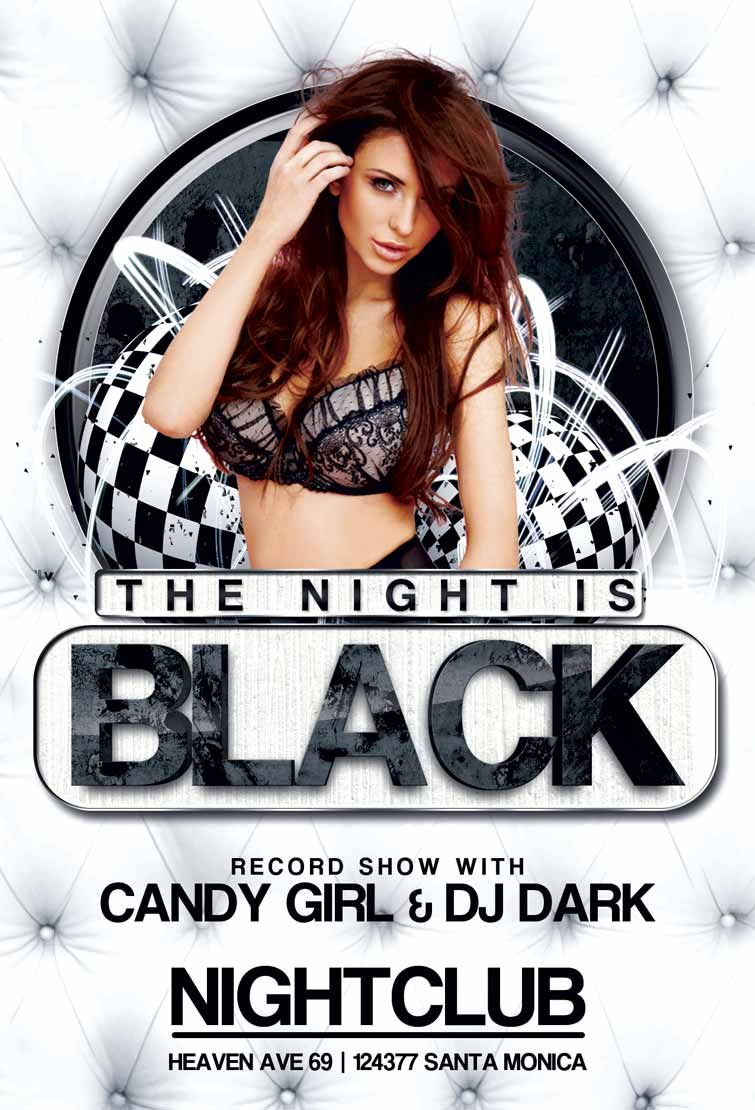 Free Black Night Club Party Flyer Template | Awesomeflyer.com