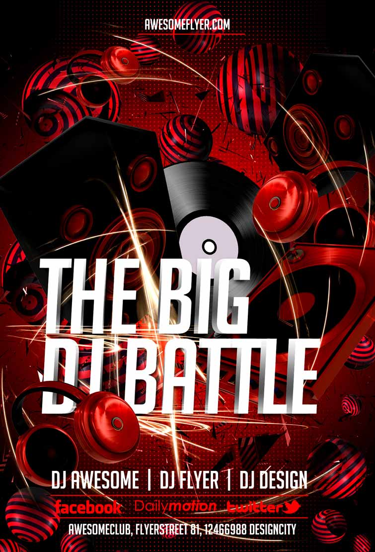 Free DJ Battle Flyer Template