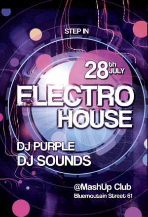 Free Electro Party Flyer Template
