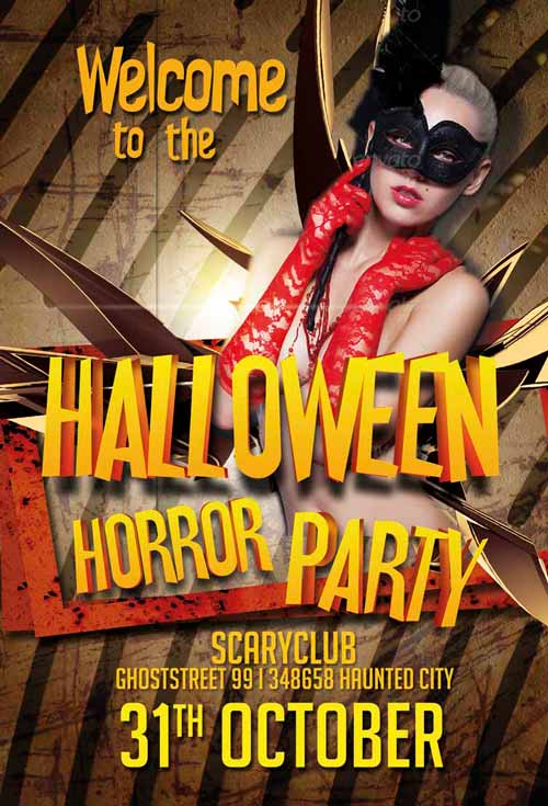 Free Halloween Horror Club Flyer Template