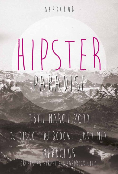 Free Hipster Paradise Flyer Template