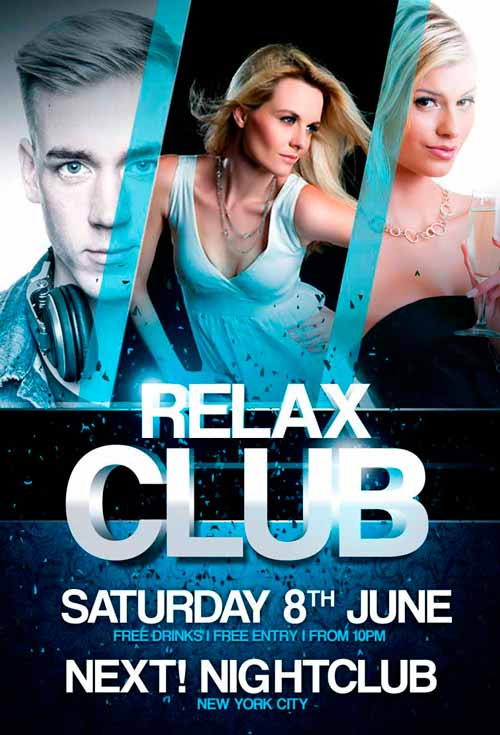 Free Relax Club Flyer Template