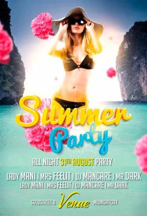 Free Summer Party Flyer Template Vol.1