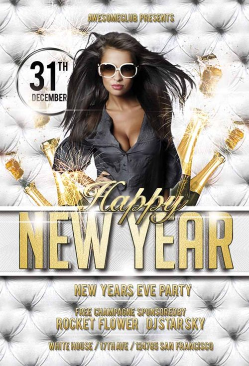 Free Happy New Year Flyer Template