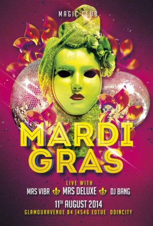 Mardi Gras Flyer Template Vol 2