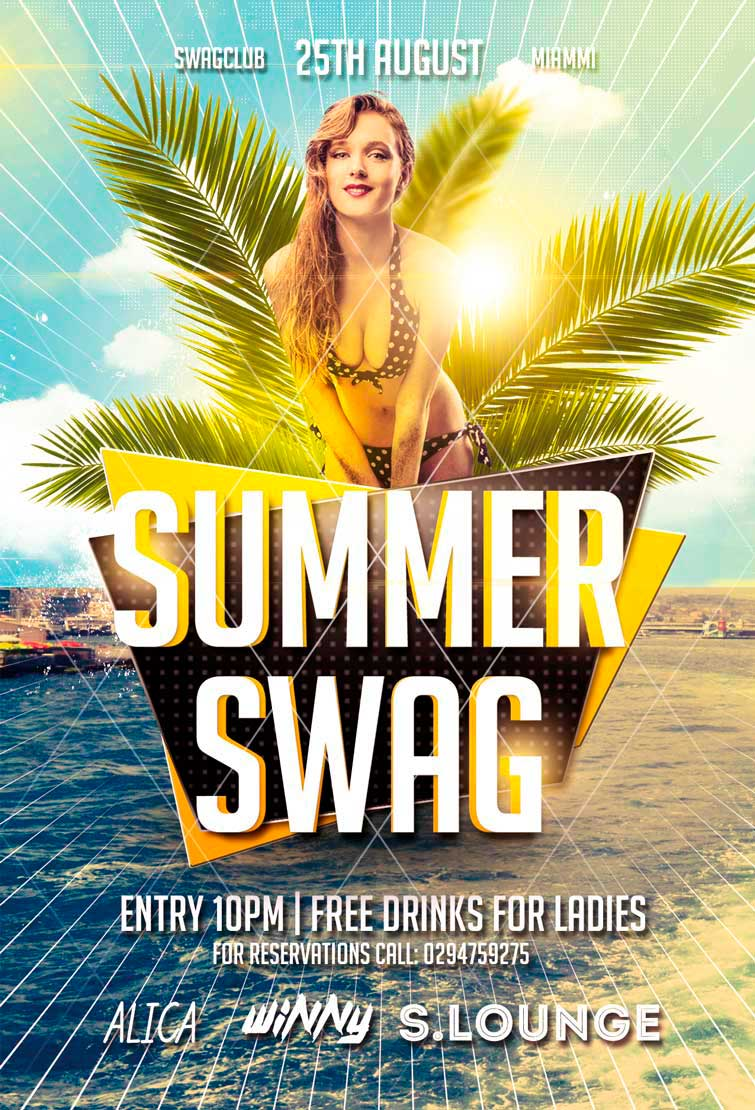 summer-swag-party-flyer-awesomeflyer-preview - Awesomeflyer