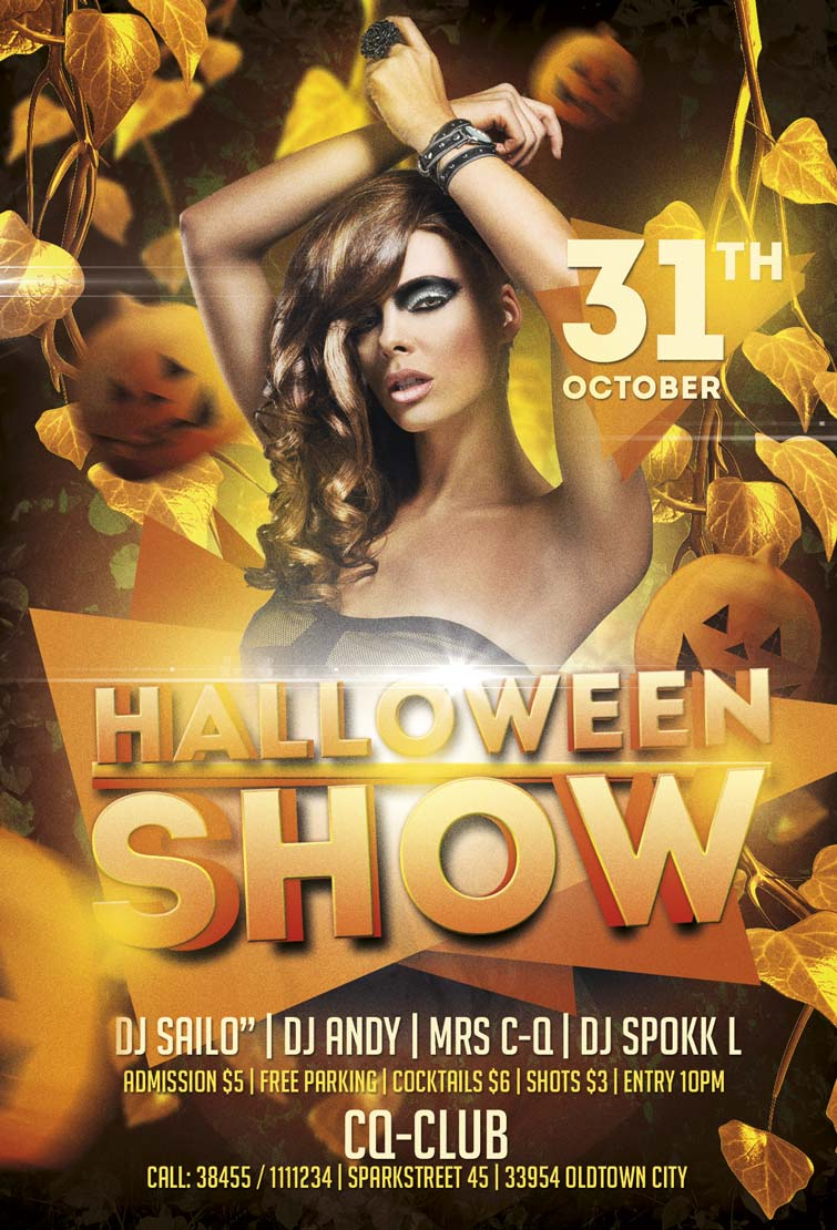 halloween show flyer template awesomeflyer com halloween show party flyer template awesomeflyer preview