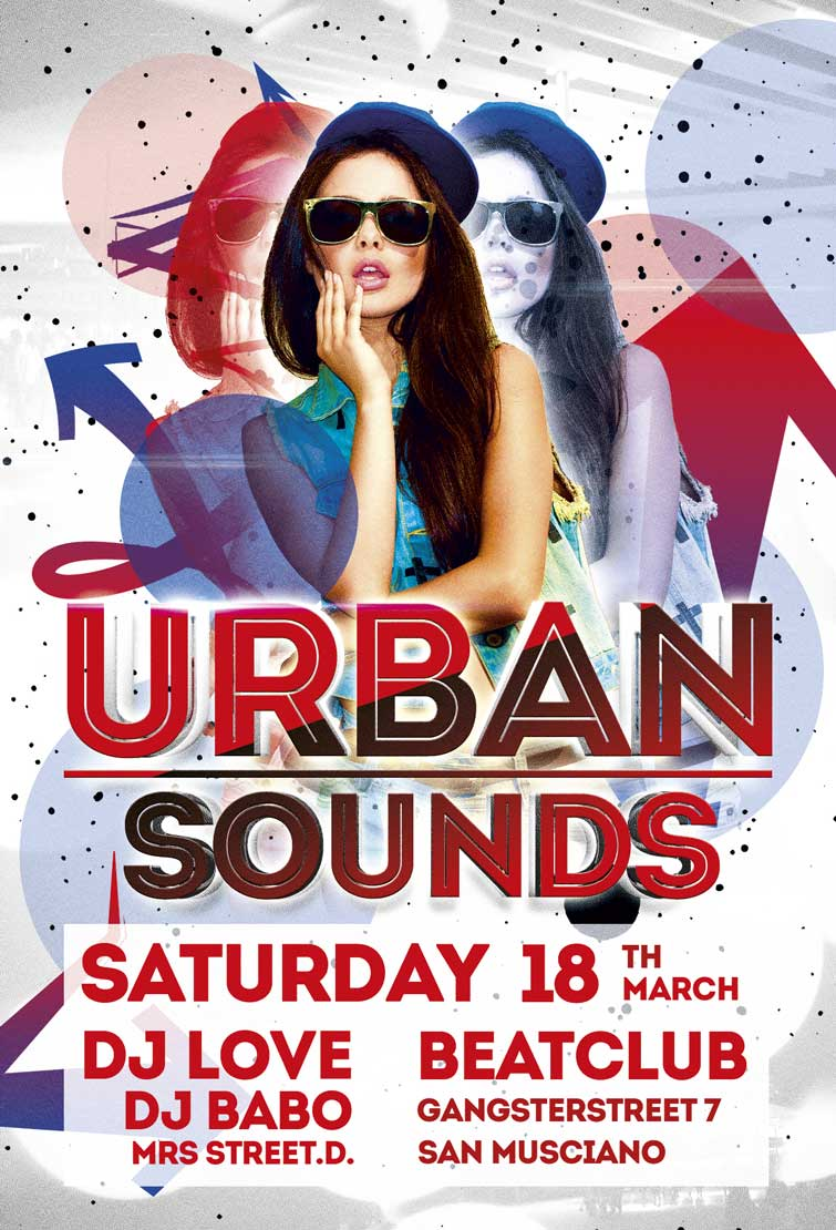 Free Urban Sounds Party Flyer Template Awesomeflyer Com