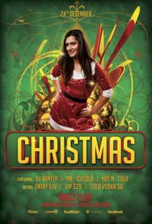 Free Christmas Bash Flyer Template