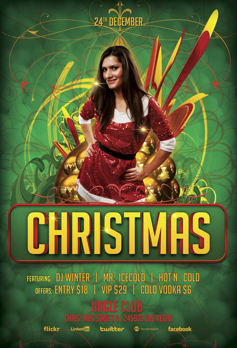 christmas bash flyer template com christmas bash club party psd flyer template