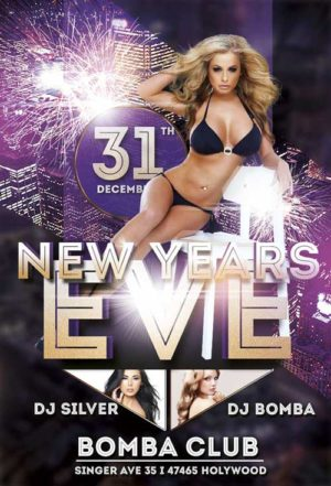 Free Happy New Year Club Flyer Template  AwesomeflyerCom