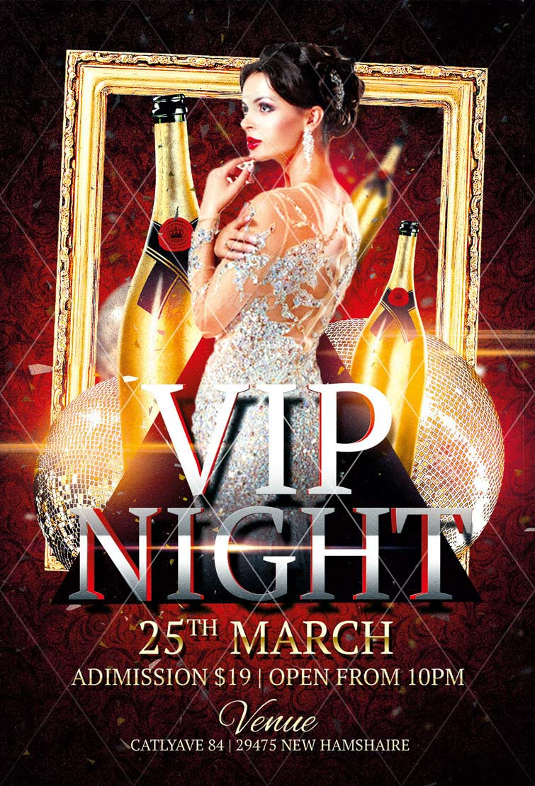 vip-night-club-party-flyer-template - Awesomeflyer