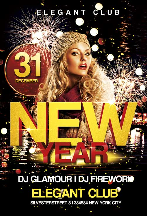free new year club flyer template awesomeflyer com