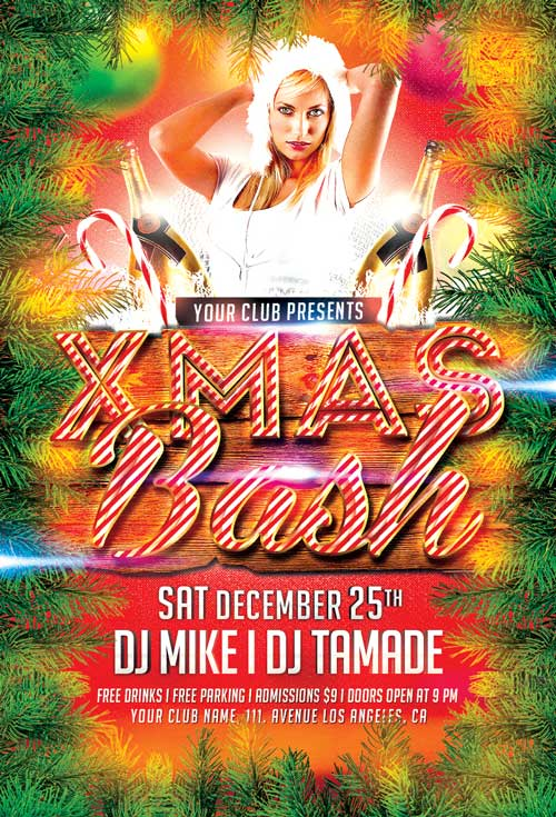 Xmas Bash Flyer Template Vol 2 Awesomeflyer