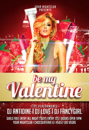 Be My Valentine Flyer Templates
