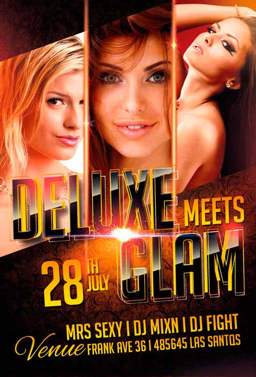 Deluxe Glam Night Flyer Template
