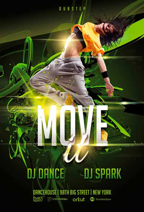 download the free move it dance flyer template awesomeflyer com