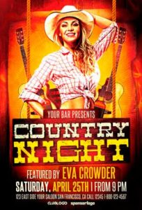 Western-Country-Night-Flyer-Template-Awesomeflyer-com