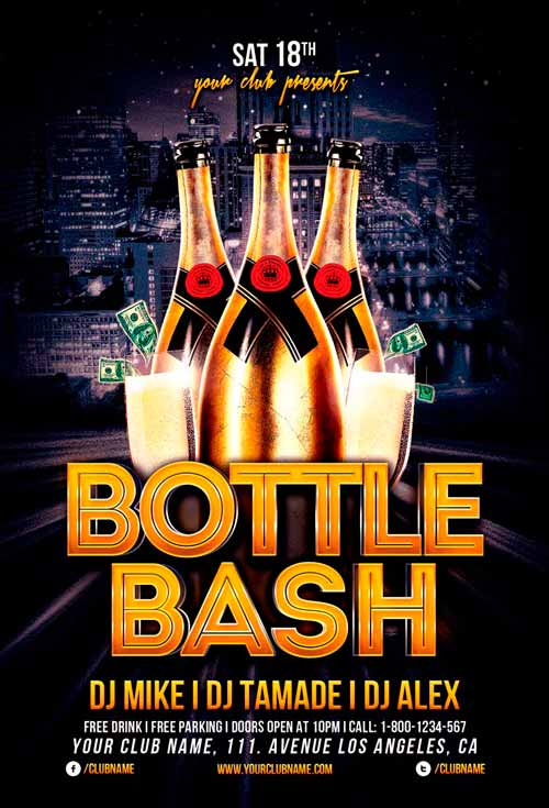 Bottle Bash Flyer Template For Photoshop Awesomeflyer Com