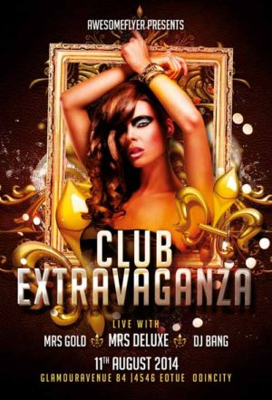 Club Extravaganza Flyer Template
