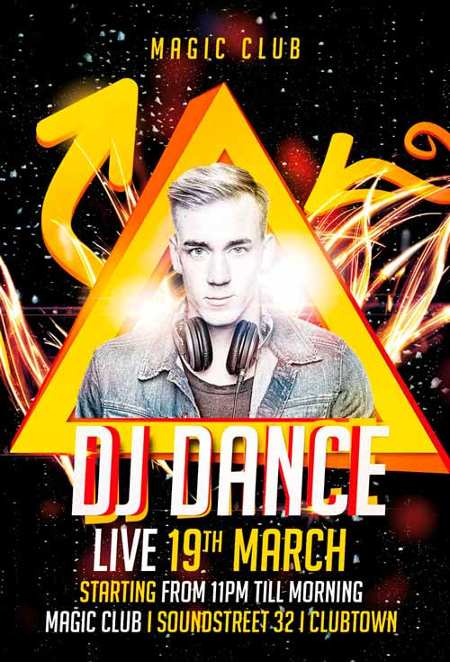 download the dj dance flyer template for photoshop awesomeflyer com