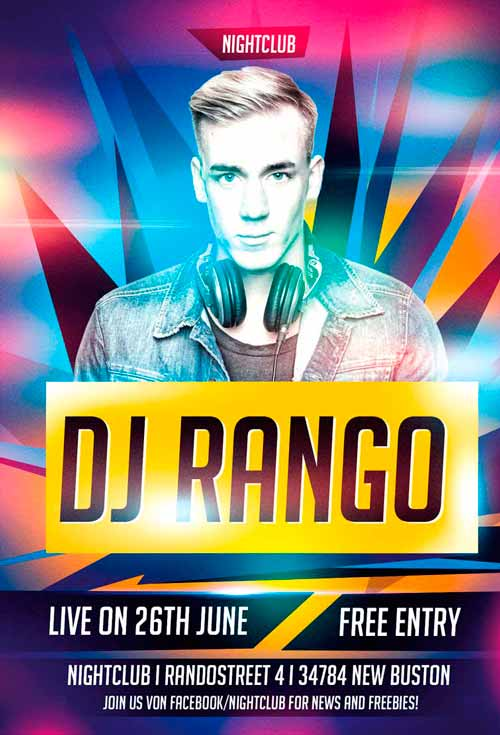 Dj Party Flyer Template For Photoshop Awesomeflyer