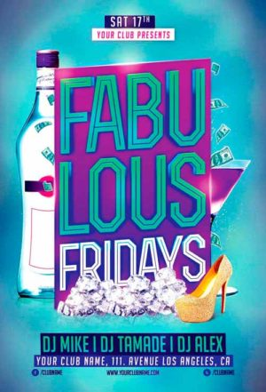 Fabulous Fridays Flyer Template