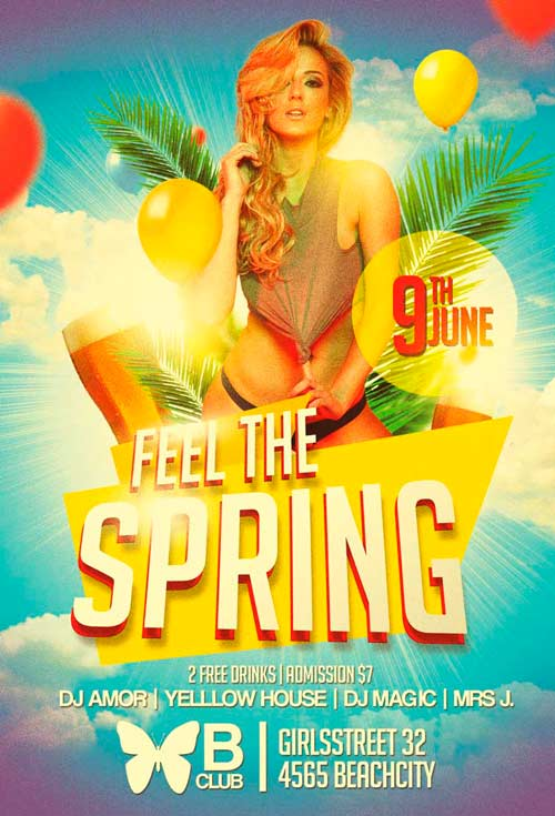 Feel the Spring Flyer Template