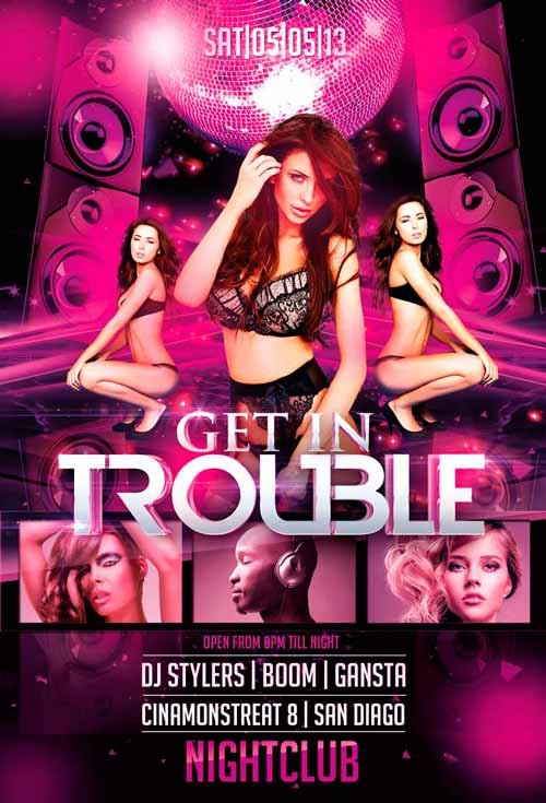 Get in Trouble Flyer Template