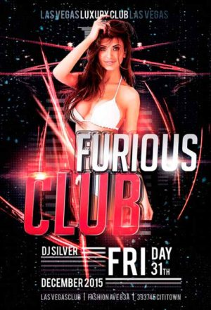 Hot Furious Club Flyer Template