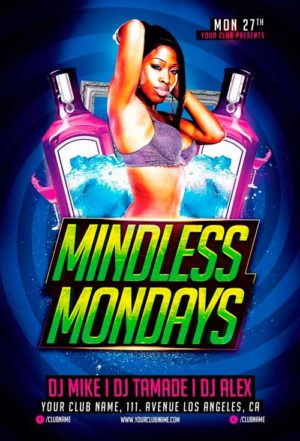 Mindless Mondays Flyer Template