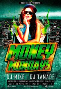 money-mondays-party-flyer-template-awesomeflyer-com