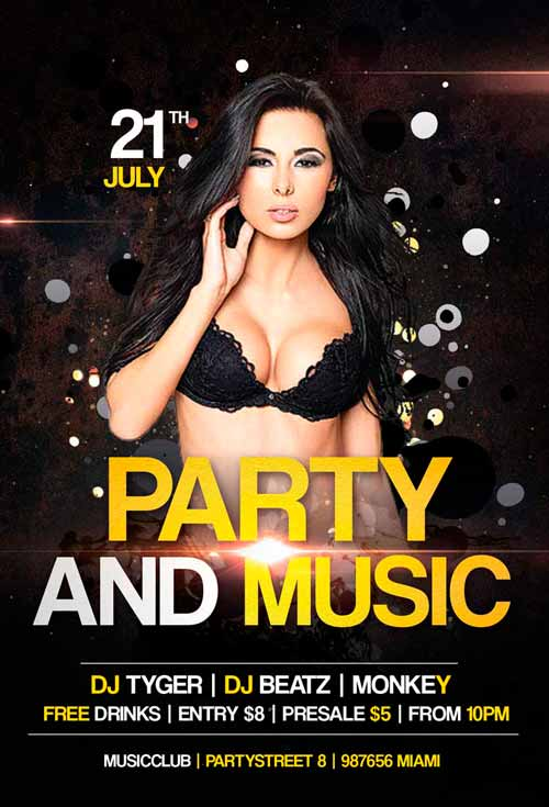 Party and Music Flyer Template