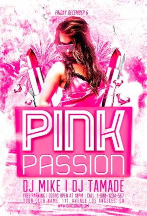 Pink Passion Party Flyer Template
