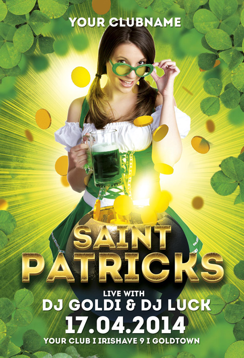 Saint Patricks Flyer Template