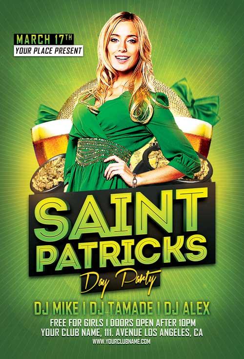 Saint Patricks Day Party Flyer Template