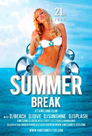 Summer Break Flyer Template