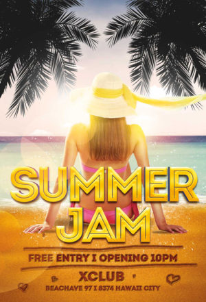 Summer Jam Flyer Template