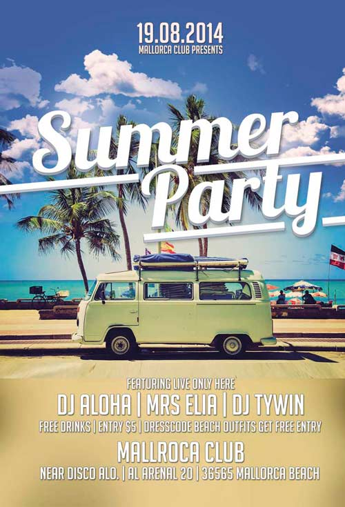 Summer Party Flyer Template  Download Freebie Summer Psd Flyer