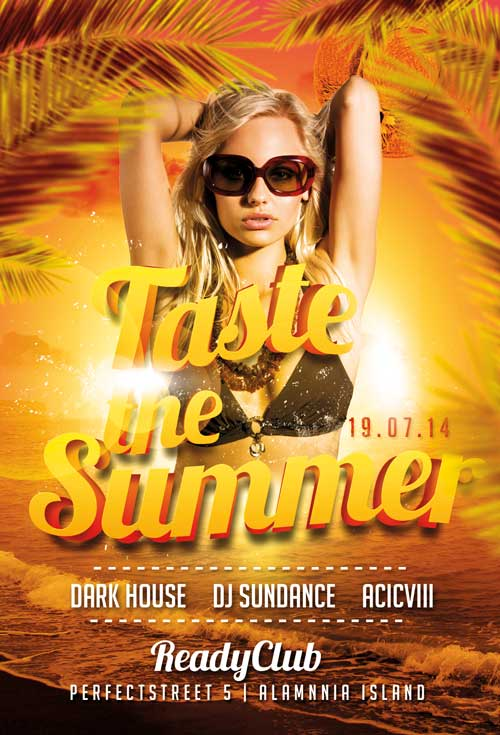 Taste the Summer Flyer Template for Photoshop