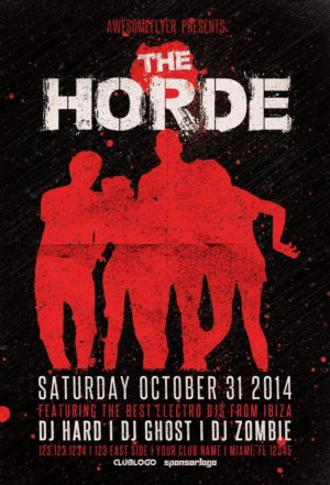 The Horde Halloween Party Flyer Template for Photoshop