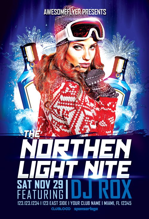 The Northen Light Night Flyer Template