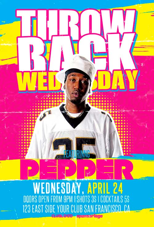Throwback Wednesday Flyer Template