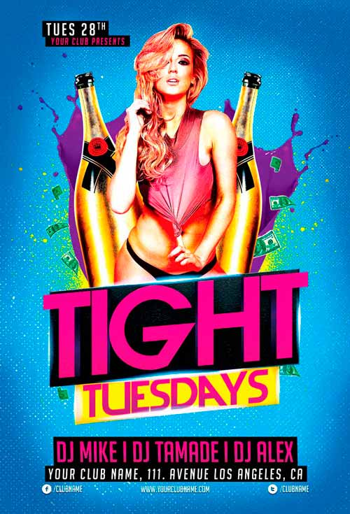 Tight Tuesdays Flyer Template