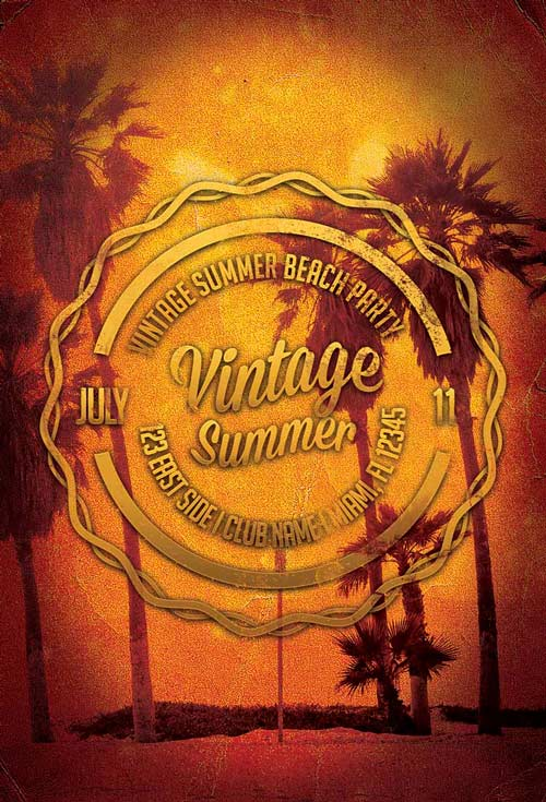 Vintage Summers Flyer Template