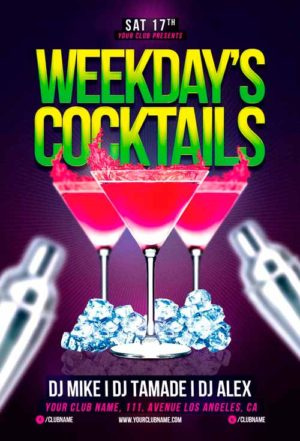 Weekdays Cocktails Flyer Template
